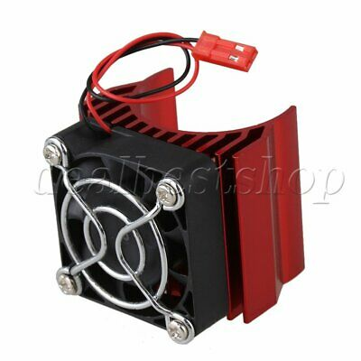 Red N10104 Aluminum Heat Sink With Fan Cooling For 540/550 1:10 Model Car Motor