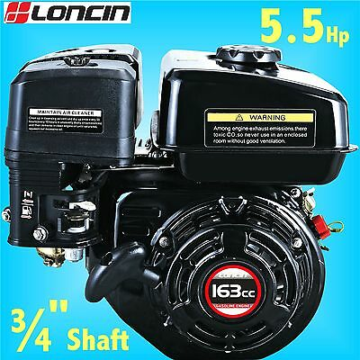 Loncin G160F-P 5.5Hp Stationary Engine for Go Kart replaces Honda GX160