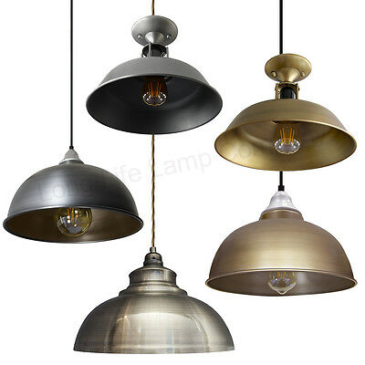 Modern LED Vintage Antique Pendant Hanging Ceiling Shades Metal Body Diner