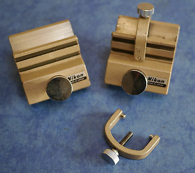 Nikon Measurescope (Industrial Measuring Microscope) Pair V-Blocks for Stage