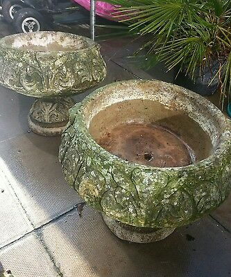 vintage plant pots very heavy concrete  collection only