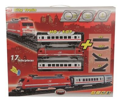 Dickie 203563900 - City Train / Zug Set - Lok & 2 Waggons Mit Licht & Sound -Neu