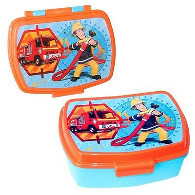 Fireman Sam - Snack Box Container Lunchbox with insert 17.0 x 13.5 x 6.5 cm