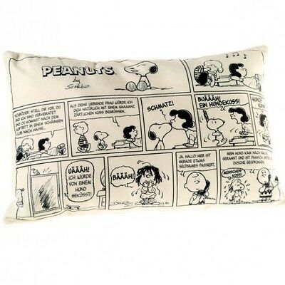 The Peanuts - Plush Cushion - Snoopy Comics, 40 x 24 cm