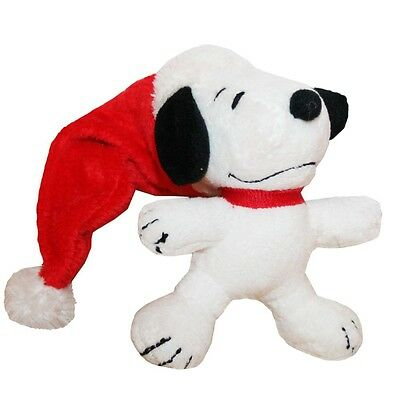 The Peanuts - Snoopy Father Christmas Hat - plush stuffed figure, small 10 cm