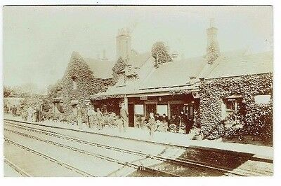 Old Postcard Brough Railway Station In 1895 East Yorkshire Vintage Real Photo