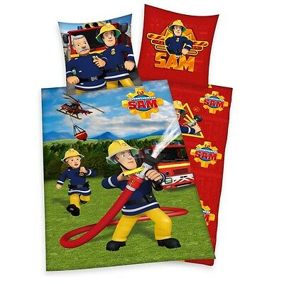 Fireman Sam - Kids Reversible Duvet Set Linon 80/80 x 135/200cm