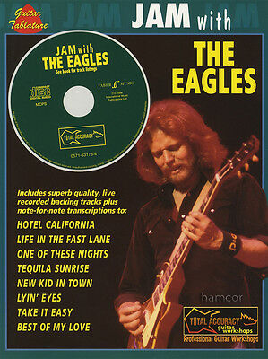 Jam With The Eagles Guitar TAB Music Book & Play-Along Backing Tracks CD