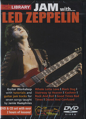 Jam with Led Zeppelin Lick Library Guitar Jimmy Page Tuition DVD/CD Set