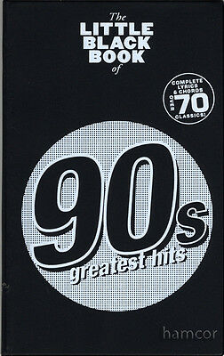 90s Greatest Hits The Little Black Songbook Guitar Chord Music Song Book