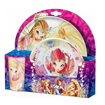 Winx Club - Bloomix - Set Tableware Plate, Deep Plate - Bowl, SW Tumbler