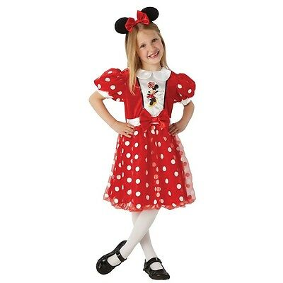Minnie Mouse - Child Costume Carnival Carnival Glitter Mouse - Size 5 to 8 years