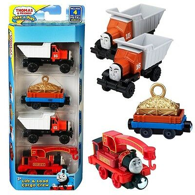 Thomas and Friends - Set Harvey, Max, Monty & Trailer Take-n-Play Mattel
