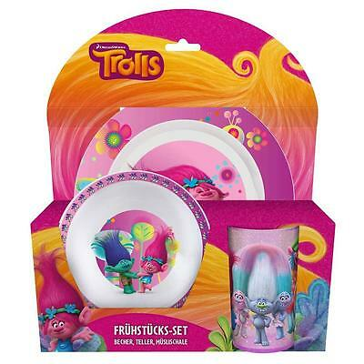 DreamWorks Trolls - Set Tableware - Dinnerware Set - Plate, Bowl, SW Tumbler