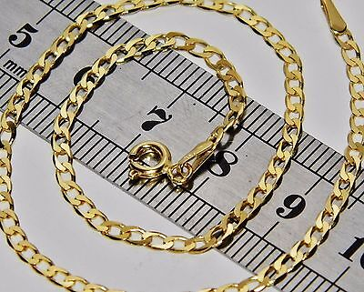 UK HALLMARKED 9 CT YELLOW GOLD 10 inch SOLID CURB ANKLET / ANKLE BRACELET