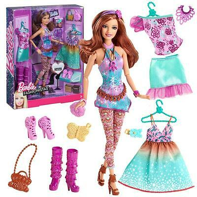 Barbie - Fashionistas Fashion Set with Doll, Clothing, Shoes and Accessories