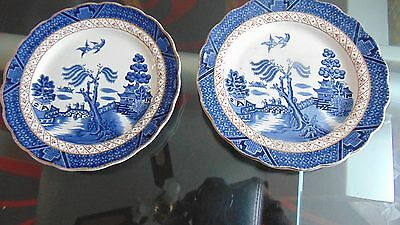real old willow plates