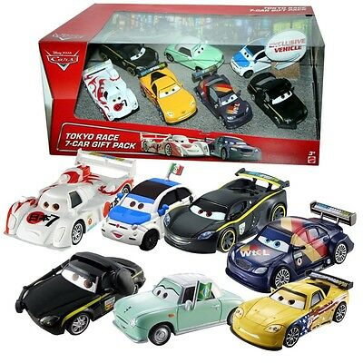 Disney Cars Cast 1:55 - Gift Pack Tokio Race - 7 Vehículos