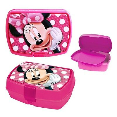Disney Topolino Minnie Mouse - Box Spuntino Lunchbox Portamerenda 18 x 15 x 8,0