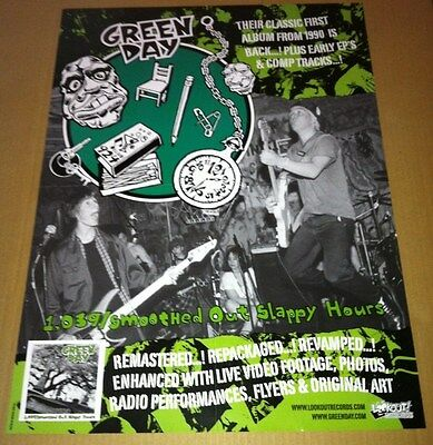 GREEN DAY 2004 NEVER DISPLAYED PROMO POSTER 1039 Smoothed Reissue CD 18x24 USA