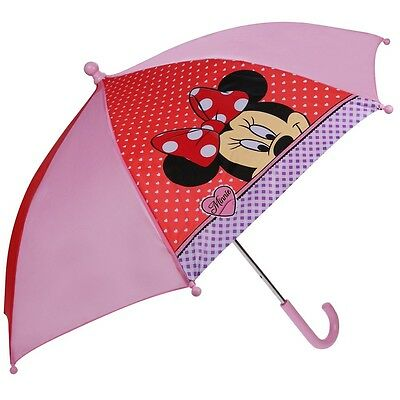 Disney Minnie Mouse - Paraguas de los Niños - De Color Rosa