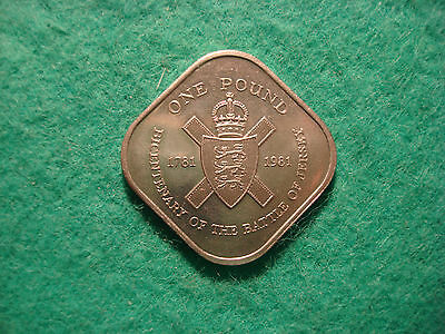 bailiwick of jersey one pound 1981 uncirculated condition AA99