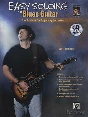 Easy Soloing for Blues Guitar TAB Book/CD Learn How to Play Solos Improvising