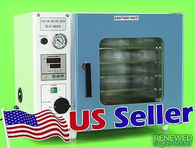0.9 Cu Ft 12x12x11 Vacuum Oven w/ 3 Sided Heating & 4 Shelves - 1 Year Warranty