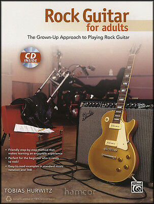 Rock Guitar for Adults TAB Book/CD Learn How to Play Method for Beginners