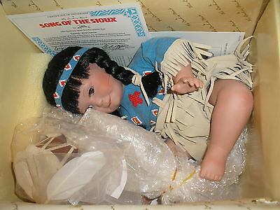 Danbury Mint Artaffects Song of the Sioux Indian Doll in the Box