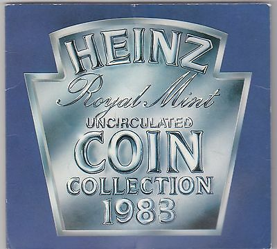 Heinz 1983 Brilliant Uncirculated Set Of 7 Coins In The Blue Folder