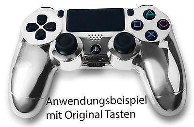 Playstation PS4 Controller Case Hülle Gehäuse Chrome Modding Cover Chrom