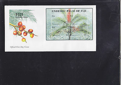 047397 Bäume Trees Fiji Block 37 FDC First Day Cover Year 2000