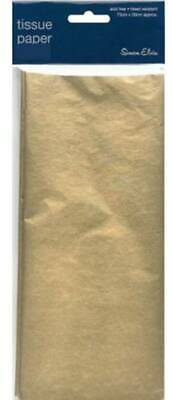 Pack Of 3 Gold Metallic Tissue Paper Sheets 75cm x 50cm - Perfect Gift Wrap