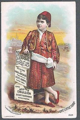Original 1889 Scott & Bowne New York Cod Liver Oil Advertising Trade Card
