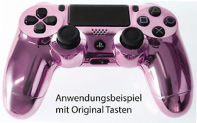 Playstation PS4 Controller Case Hülle Gehäuse Chrome Modding Cover Lila Purple
