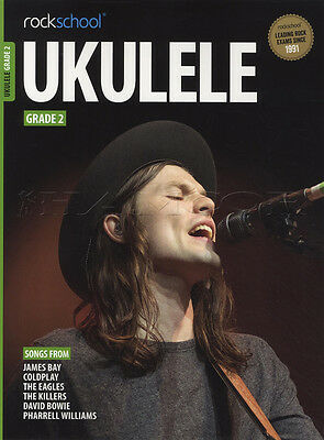 Rockschool Ukulele Grade 2 TAB Music Book & Audio From 2017 David Bowie Coldplay