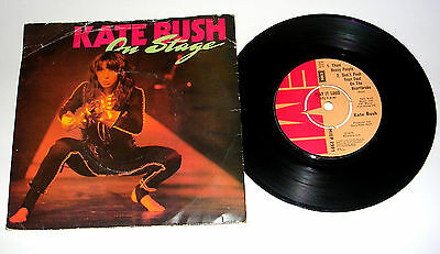 """Kate Bush 'on Stage' 1979 Pic Sleeve 7"""" Ep Vg/g"""