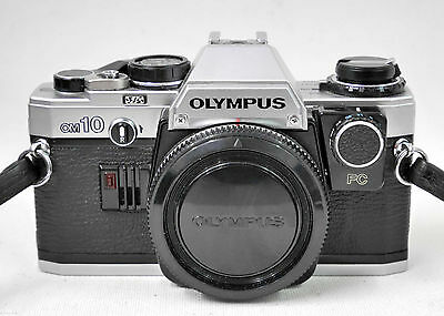 Olympus OM10 35mm SLR Film Camera Body Only with Manual Adapter