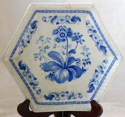 C19Th Blue And White Transfer Printed Pearlware Dish With A Floral Pattern