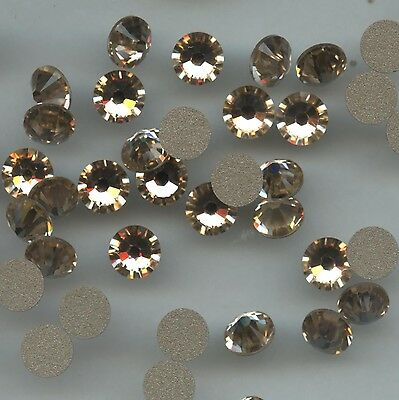 2058 SS30 LP *** 10 STRASS SWAROVSKI FOND PLAT 6,4mm LIGHT PEACH F