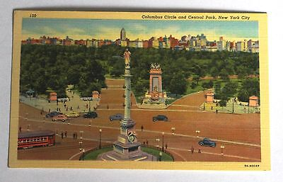 Unused Postcard of Columbus Circle and Central Park, New York City