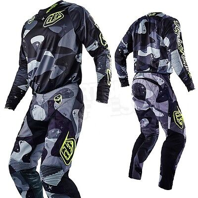 New 2016 Troy Lee Designs Se Cosmic Camo Gray Gear Combo All Sizes