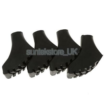 4pcs Spare Replacement Walking Stick Trekking Hiking Pole Rubber Paw Ends