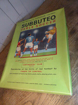Vintage Subbuteo Table Soccer game Continental Club Edition