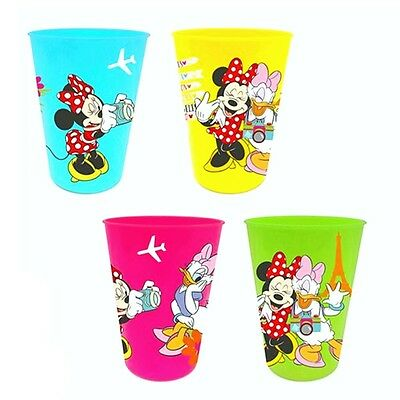 Minnie Maus - 4-er Set Trinkbecher Mehrwegbecher Mouse 200ml