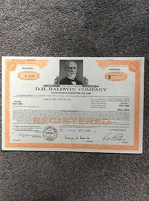 D H Baldwin Co. 9 3/4% 1989 $ 1000 Shares Invalid  SHARE CERTIFICATE