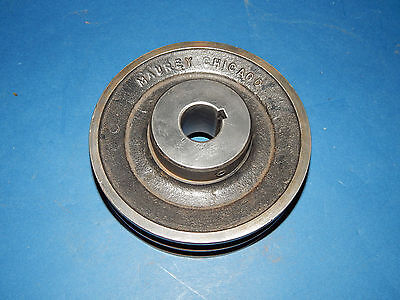 """Maurey Chicago Pulley Sheave 2 Groove 1"""" Bore 1/4"""" (.25) Keyway 5-1/2"""" (5.5) OD"""