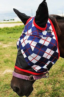 Equine Horse Fly Mask Summer Spring Airflow Mesh UV Mosquitoes  73258