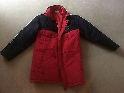 Manchester United Adidas Winter Coat. Original Late 80's Early 90's. Size 38/40